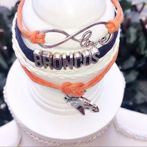 🆕DENVER BRONCOS Stacked Charm Bracelet